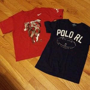 Boys size 6 nike +Ralph Lauren shirts